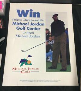 1998 RARE MICHAEL JORDAN GOLF CENTER PROMOTIONAL POSTER 22x28 WIN CHANCE TO MEET