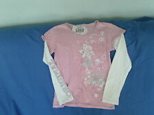 Girls 10 Years - Pink & White Long Sleeve Top, Floral Print - Next