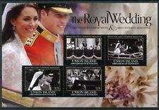 Union Island Gren St Vincent 2011 MNH Royal Wedding William Kate 4v M/S I Stamps