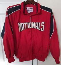 MLB Washington Nationals Full Zip Jacket by Majestic Size Youth Large EUC