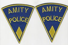 Jaws Movie Amity Police Uniform Yellow Diamond Patch Set (2) 5 inches tall