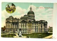 Indianapolis Indiana State Capitol Building Vintage Postcard