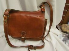 Stunning Patricia Nash Leather Saddle Bag - London Handbag $229 Tan