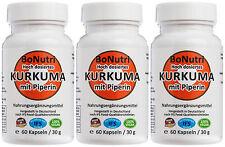 SUPERSPARPACK 3x Kurkuma mit Piperin 760 mg Curcumin am Tag 180 Kapseln 3 Monate
