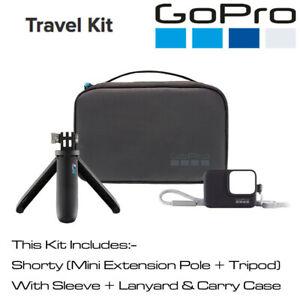 GoPro Travel Kit Shorty, Sleeve, Lanyard, Carry Case Hero 6 7 Black Silver White