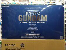 Bandai Expo PG 1/60 RX-78-2 Gundam Chrome Plated Version Limited Production JPN