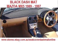 DASH MAT,DASHMAT, BLACK  DASHBOARD COVER FIT  MAZDA MX5 1989-1997, BLACK