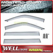 Wellvisors Rain Sun Wind Deflectors Mitsubishi Montero Sport 00-04 Window Visors