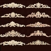 Wood Carving Flower Background Wall Solid Wood Furniture Decal Decoration