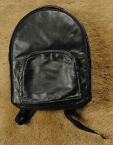 BLACK LEATHER camera backpack as pictured