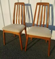 Benny Linden Design Mid Century Danish Modern Teak Dining Chairs 2 Eames Era MCM