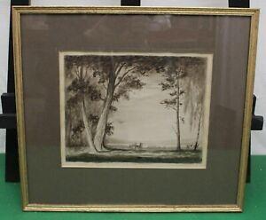 "Watercolour Painting Depicting ""Black Wood & Loch Rannoch"", John Trail 1920"