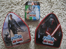 Topps Force Attax Star Wars The Force Awakens 3 EMPTY  TINS REY AND KYLO TIN