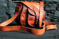 Women's Brown Genuine Leather Messenger Bag Cross body Shoulder Satchel Handbag
