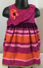 Gymboree Wild For Zebra Girls 6-12 M Parrot Sleeveless Cotton Dress & Bloomers