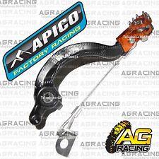Apico Black Orange Rear Brake Pedal Lever For KTM SX 65 2010 Motocross Enduro