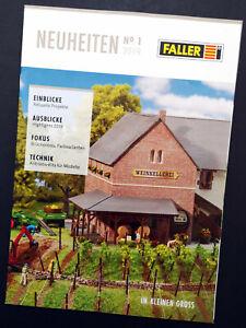 """Faller Katalog """"Neuheiten No 1 - 2019"""", DIN A4, 36 Seiten, Neu!"""