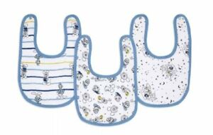 NWT Disney Mickey Mouse Baby Boy 3 Pack Muslin Bib Set by Aden + And Anais