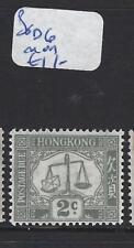HONG KONG    (PP0110B)  POSTAGE DUE 2C  SG D6    MOG