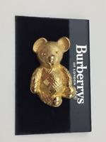 Burberrys Teddy Bear Pin~Original 1980's~NOS