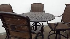 Santa Clara Outdoor Patio 5pc Bar Set Cast Aluminum Dark Bronze