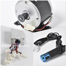 250W 24V DC scooter electric Pulley motor+speed controller+Blue Digital Throttle