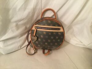 Dooney & Bourke bag Logo rainbow zipper  Gray coated canvas backpack Small
