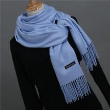 Grand Foulard Châle Écharpe,Homme,Femme,100%Cachemire,Bleu 9a491e4c1ea
