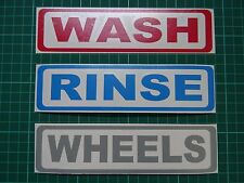 Car Detailing - WASH - RINSE - WHEELS - Bucket Stickers | Cleaning | Wax (180mm)