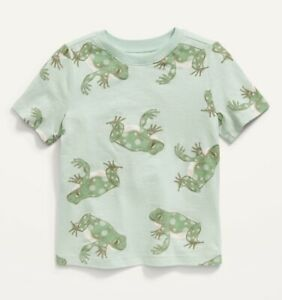 Old Navy Toddler Boy Girl ~ Short Sleeve Tee T-Shirt ~ Size 12-18 - 5T ~ Frog