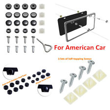 License Plate Frame Accessories Screws Fasteners+Screw Caps For American Car SUV