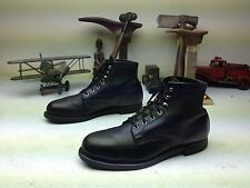 VINTAGE BLACK LEATHER KNAPP MADE IN USA STEEL TOE ENGINEER ANKLE BOOTS SIZE 10 C