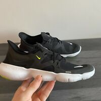NIKE WOMENS FREE RN 5.0 - UK 3, 4.5, 5.5 & 6.5 - BLACK/WHITE (AQ1316-003) FB