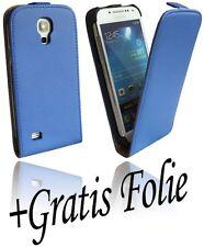 Samsung Galaxy S4 Mini i9195 Zubehör Handy tasche Schale Hülle + Folie Blau