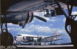 Eastern Airlines DC-4 jet airplane postcard