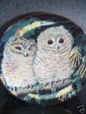 Danbury Mint 1988 Tawny Owls Dick Twinney Baby Owls Ltd Ed Plate