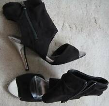 Dorothy Perkins Black Ankle Boots (NEW) size 6-£40.00