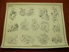 1986 Spaulding & Rogers Flash Art Koi & Snails Page 42E