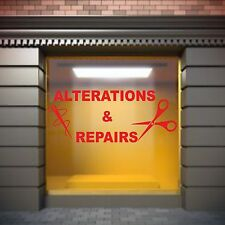 Alterations & Repairs Window Display Sticker Sewing Shops Fabric Shop,Seamstress
