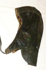 Ancienne Casquette en cuir Cap moto Capuchon militaire Bonnet Chapeau d'aviateur