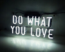 """Do What You Love"" Man Cave Game Room Wall Window Neon Light Sign Lamp Shop Pub"