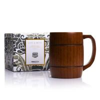 Legno Tazza di a Mano per Caffè, Latte Birra Boccale Groomsmen Idea Regalo