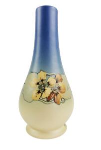 1920s Weller Hudson Art Pottery Hester Pillsbury Signed Nasturtium Flower Vase