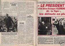 Coupure de presse Clipping 1986 Le Président Georges Clémenceau Gabin (3 pages)