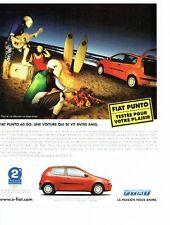 Publicité Advertising  2001  la Fiat Punto 60 GO