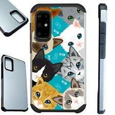 FUSION Case For Samsung Galaxy S20 Note 10 Phone Cover  MULTI CUTE CAT KITTEN