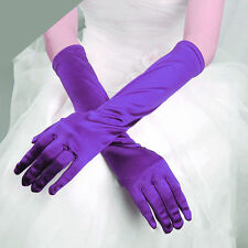 Fashion Lady Satin Long Gloves Opera Wedding Bridal Evening Party Costume Gloves