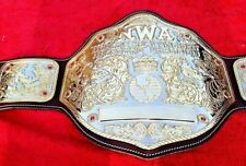 NWA Big Gold Championship belt Adult Size & Dual Gold Plates