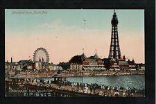 L@@K  Blackpool From North Pier 1915 Postcard  L@@K