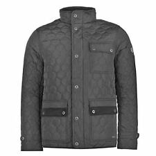 Firetrap Kingdom Quilted Jacket Coat Black £100